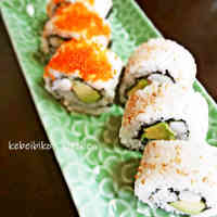 California Rolls with Avocado and Crab