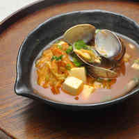 Kimchi Soup with Tofu and Asari or Manila Clams