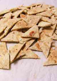 Easy Crunchy Okara Crackers