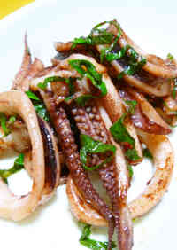 Grilled Squid With Garlic Butter and Soy Sauce