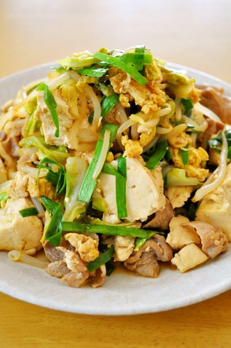 Tofu Champuruu Stir Fry that I Ate in Okinawa!