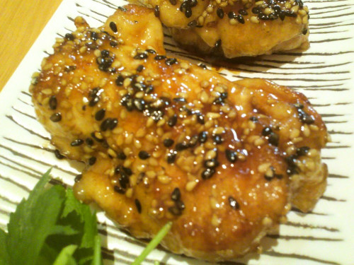 Chicken Breast Teriyaki With Sesame Seeds