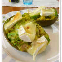 Gratinée of Avocado, Camembert Cheese and Honey Mustard