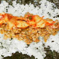 Natto and Kimchi Sushi Roll
