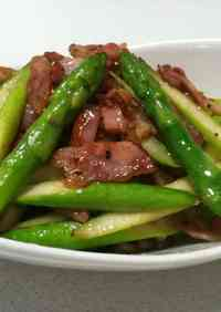 Fried Asparagus and Bacon