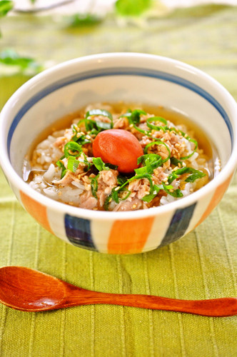 Perfect on Hot Summer Days Chilled Tuna Ochazuke (Rice Porridge)