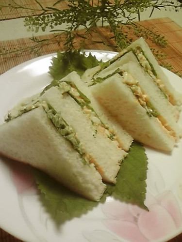 Easy! Refreshing Japanese-Style Sandwich: Shiso and Egg