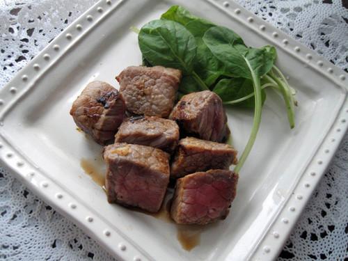 Shio-Koji Diced Steak Served with Ponzu
