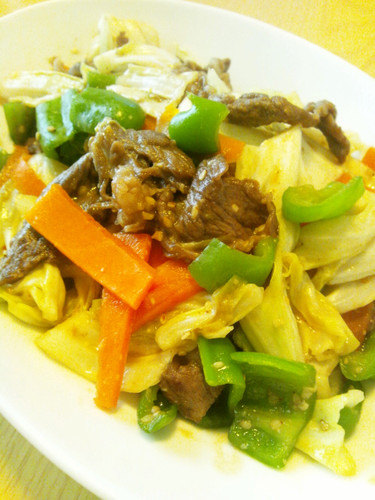 Beef and Miso Vegetable Stir Fry