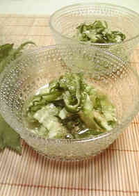 Easy and Refreshing Marinated Shiso Leaf and Cucumber Sunomono