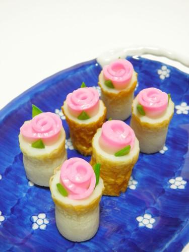 Kamaboko Fish Cake Roses in Cheese Chikuwa - A Charaben Side Dish