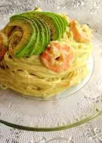 Chilled Pasta with Shrimp and Avocado