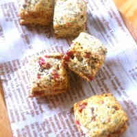 Whole Wheat Scones with Cranberries and Black Tea