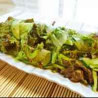 Non-Oil Red Leaf Lettuce Sesame Salad