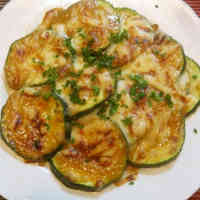 Zucchini with Miso Sauce Baked with Cheese