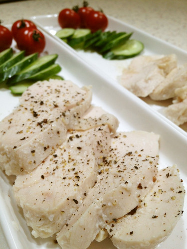 Moist Boiled Chicken Breasts with Shio-Koji
