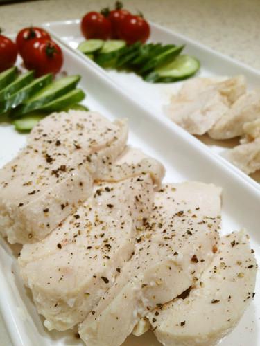 Moist Boiled Chicken Breasts with Shio-Koji