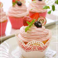 Decorated Strawberry Cupcakes