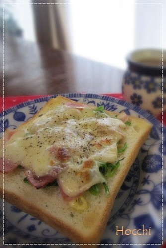 Spinach and Bacon Cheese Toast