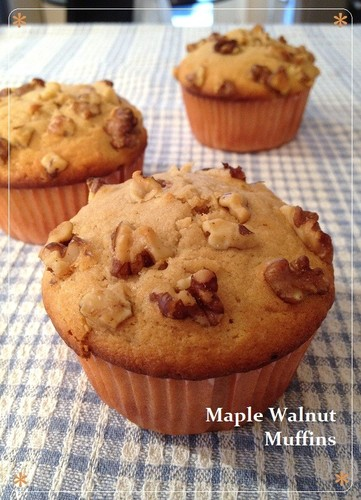 From Canada - Maple Walnut Muffins