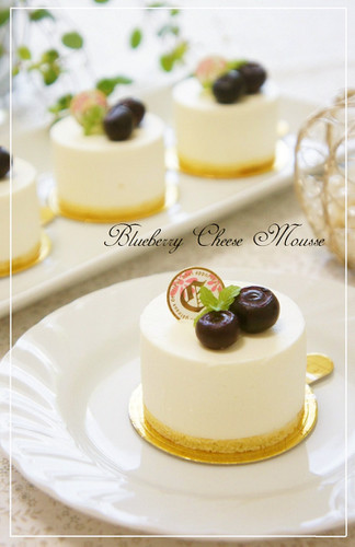 Blueberry Cheese Mousse