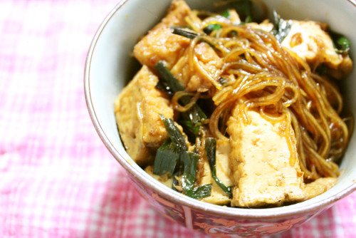 Mapo Cellophane Noodles for Vegetarians