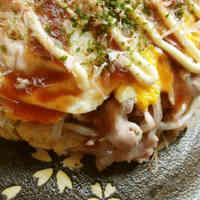 Low-Sugar Hiroshima Okonomiyaki with Okara & Bean Sprouts