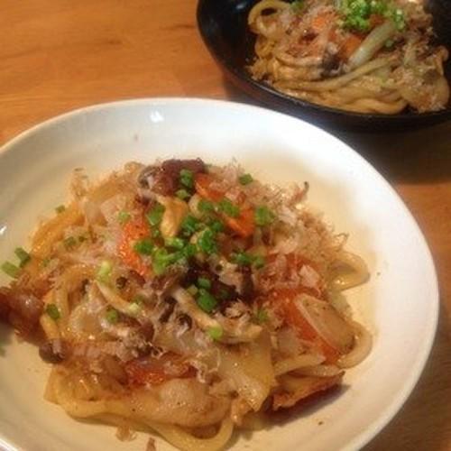 Stir Fried Udon Noodles with Yuzu Pepper