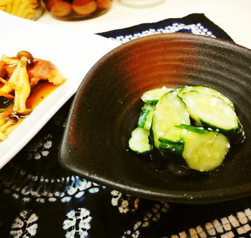 Lightly Pickled Shio-Koji Cucumbers