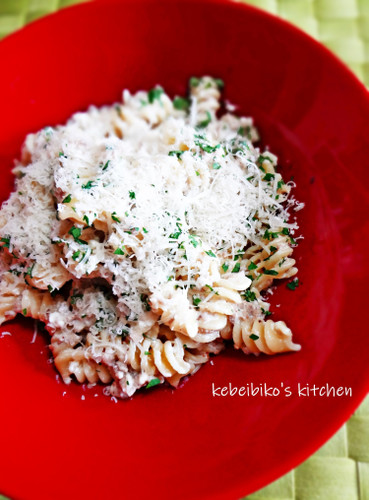 Minced Meat & Cheese Cream Pasta