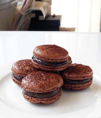 Rich Bitter Chocolate Macarons