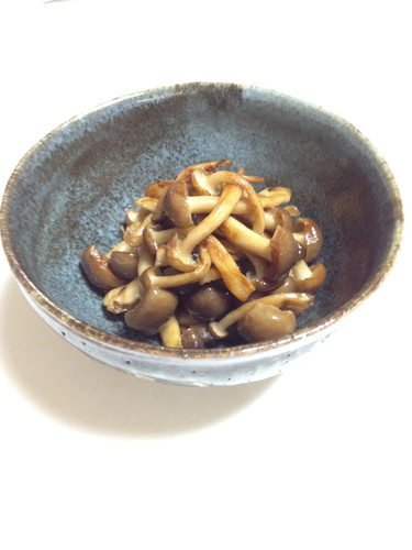 Fried Shimeji Mushrooms with Sesame Oil