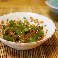 Green Pepper and Shirasu Sweet & Savory Stir-Fry