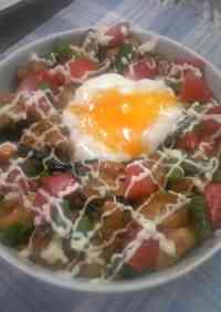 Soft-Poached Egg Yakitori Bowl