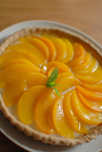 Easy Macrobiotic Peach Tart