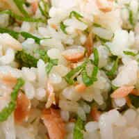 Refreshing Salmon, Shiso and Lemon Chirashi Sushi