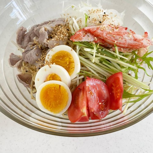 Shabu Shabu Pork and Ramen Noodle Salad