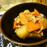 Refreshing Simmered Pork, Daikon Radish, and Carrot