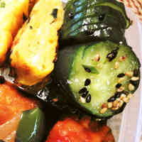 Simple Jabara Cucumber Namul for Bento