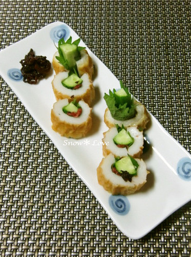 Easy Appetizer! Chikuwa Stuffed with Umeboshi, Shiso Leaves, and Cucumbers