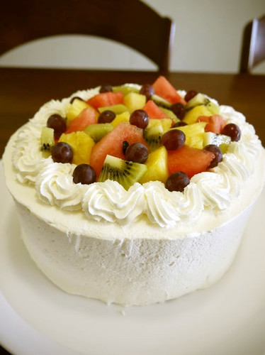 Summer Fruit Decorated Cake