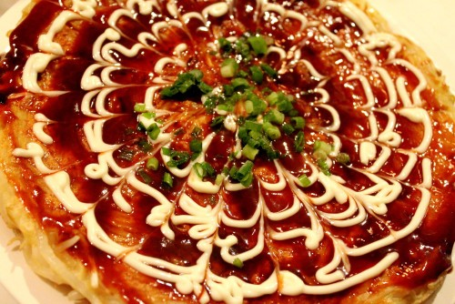Egg and Wheat Free Okonomiyaki Made From Rice Flour