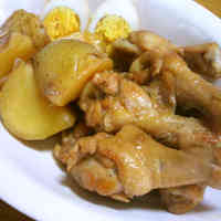Simmered Chicken Drumettes and Potatoes