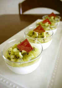 Refreshing Bavarian Cream With Kiwifruit