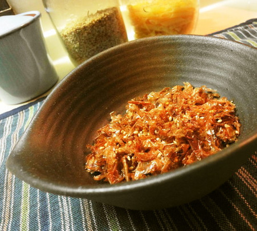 Furikake Bonito Flakes and Sesame Seeds