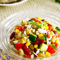 Bean and Cottage Cheese Salad