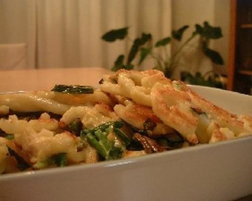 Gyoza-style Udon Noodles
