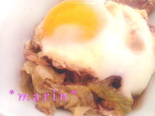 10 Minute Soft Creamy Egg, Canned Mackerel and Cabbage Dish