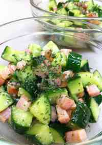 Chunky Bacon and Cucumber Salad