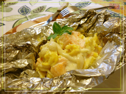 Salmon with Creamy Egg and Mayonnaise